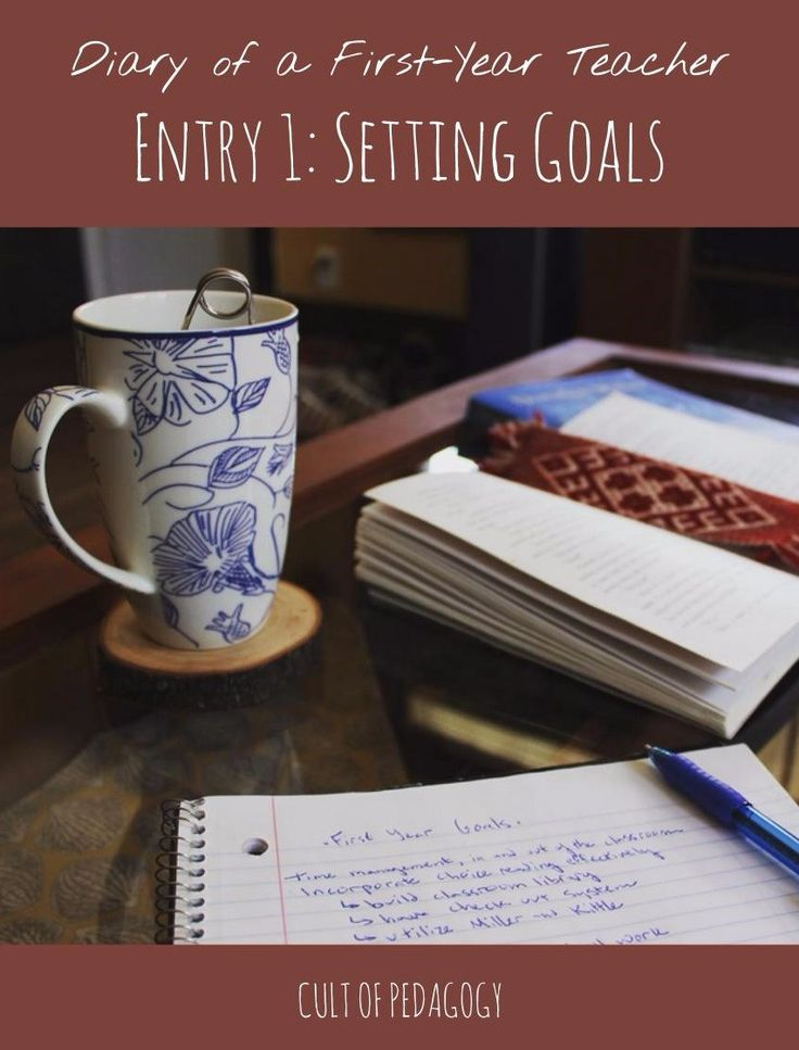 """Diary of a 1st Year Teacher #1: Setting Goals - """"When I was student teaching, I gave it my all, consistently working thirteen hour days, and I'd find myself crying out of stress at least once a week. But is that lifestyle sustainable? Heck no. And I'm not going to let myself get like that again."""""""