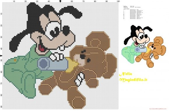 Baby Goofy with teddy bear (click to view)