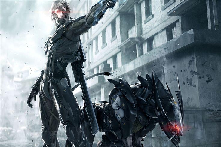 Пользовательские Холст Art Metal Gear Solid Poster Metal Gear Solid V Стены Стикеры Рост Rvengeance Игра Обои Украшения Дома #584