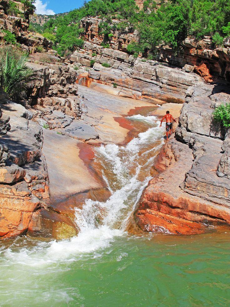 Natural Rock Slide - Paradise Valley, Taghazout, Morocco  Photo: Dane Van Emden