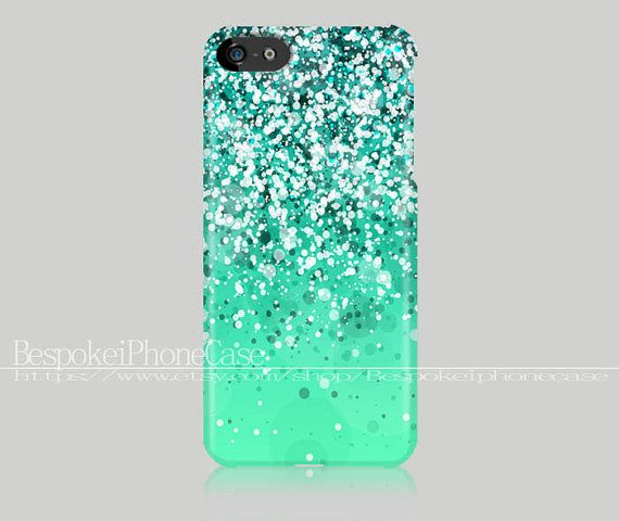 Silver Sparkle iPhone 5c case Glitter iPhone by Bespokeiphonecase, $14.99