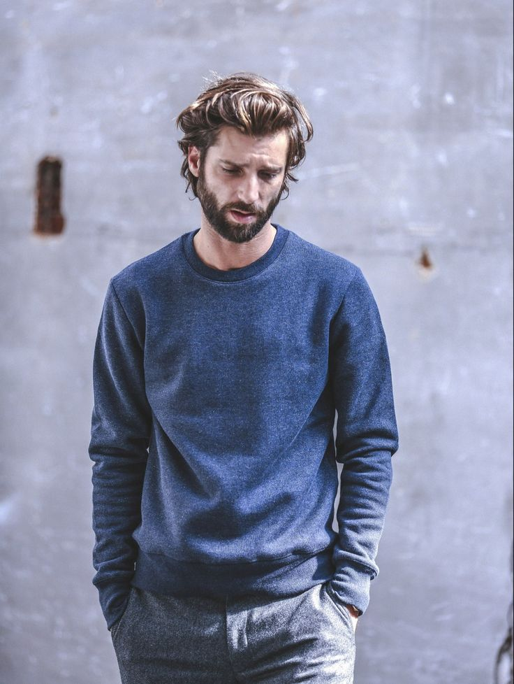 Drapeau-Noir | Okayama Blue Sweater | Made in Portugal