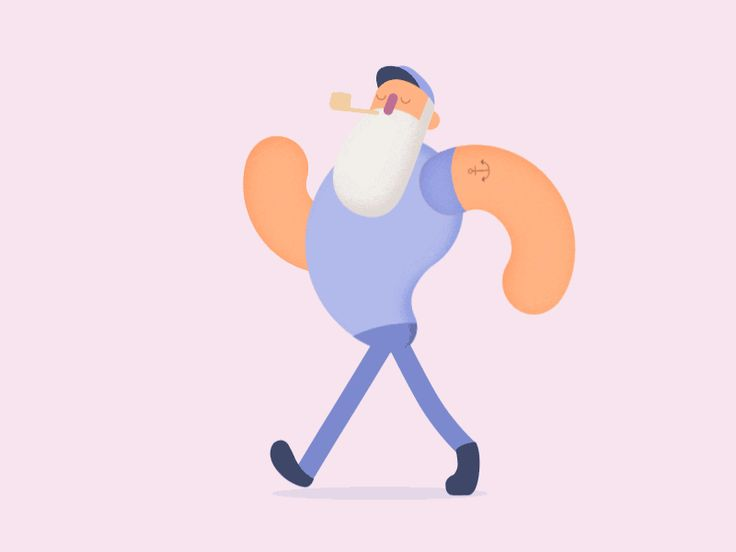 A sailor walking Made with adobe illustrator and after effects instagram | twitter | Behance