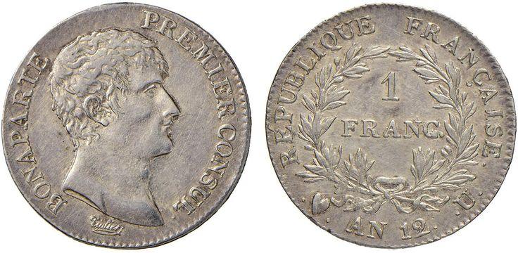 NumisBids: Nomisma Spa Auction 50, Lot 205 : TORINO Napoleone (1804-1814) Franco A. 12 – Pag. 9; Gad. 443 AG (g...