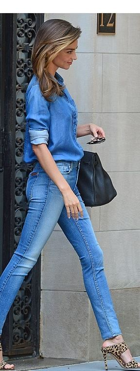 Miranda Kerr: Sunglasses – Celine  Purse – Hermes  Jeans – Citizens of Humanity  Shoes – Miu Miu