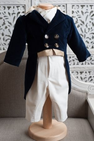 """Sophisticated frock-coat for baby boys, perfect for christening and other elegant parties: """"O'Malley""""."""