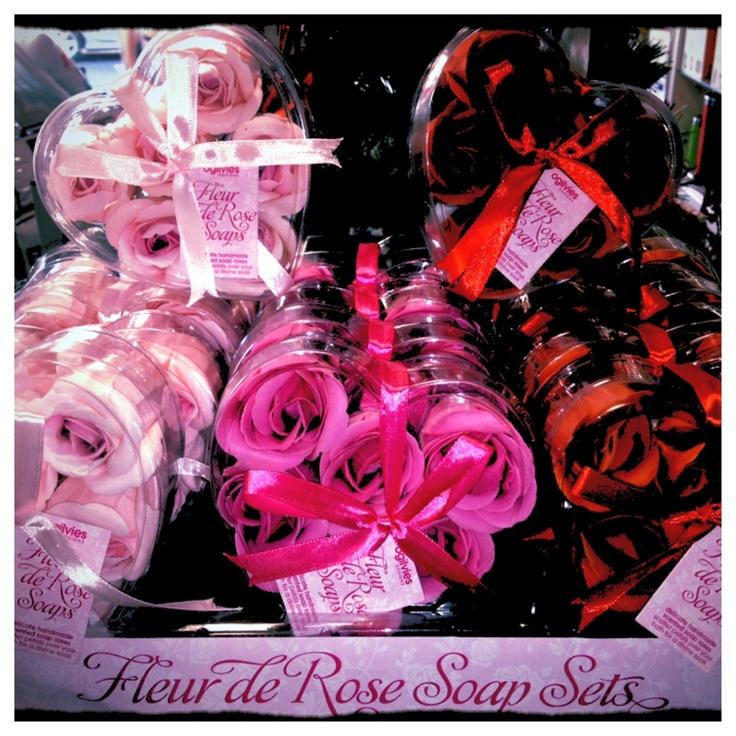 Fleur De Rose 6 Pack Rose Petal Guest Soap $6.95