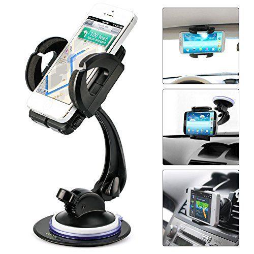 Buy Smartphone Car Mount Holder, iKross 4-in-1 Universal Windshield / Dashboard / Sun Visor / Air Vent Car Mount Cradle Holder Kit - Black at 30% Off - http://reviewsv.com/carkits/buy-smartphone-car-mount-holder-ikross-4-in-1-universal-windshield-dashboard-sun-visor-air-vent-car-mount-cradle-holder-kit-black-at-30-off/