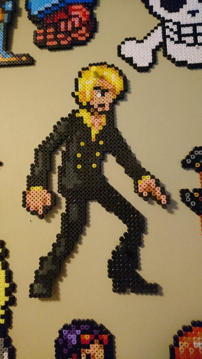 One Piece Character 4 Sanji By Magicpearls Anime Pixel Art Pixel Art Pixel Art Design