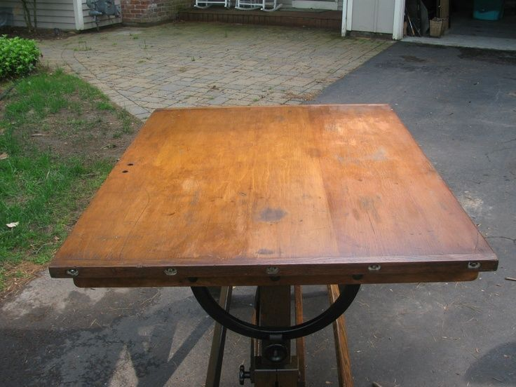 craftsman kitchen table | ... Age Arts Crafts Industrial Drafting Table Kitchen Dining Desk | eBay