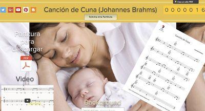 PARTITURAS A TU DISPOSICIÓN: CANCIÓN DE CUNA (JOHANNES BRAHMS)