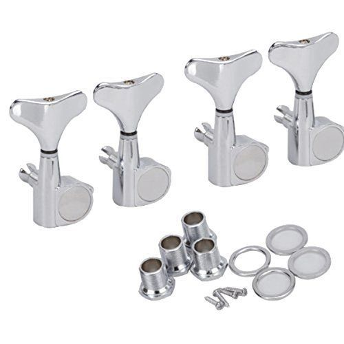 Best 4R Durable Replacement Bass Guitar Tuner Machine Head Tuning Peg Silver NEW