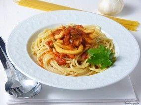 Spaghetti alla pescatore - Spaghetti mit Meeresfrüchten.