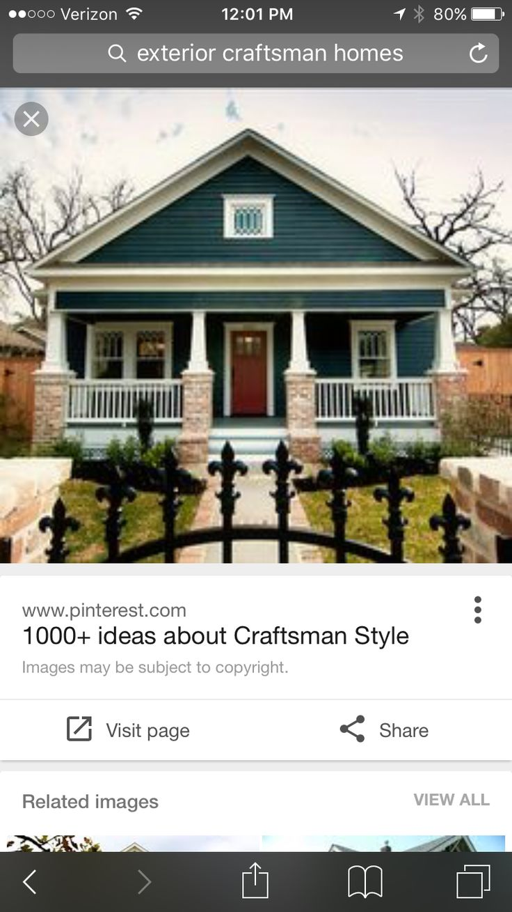blue Craftsman style house-interior and exterior pics-wonderful!