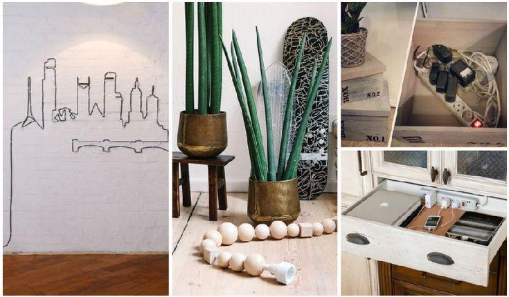 17 mejores ideas sobre ocultar cables en pinterest - Como camuflar cables ...