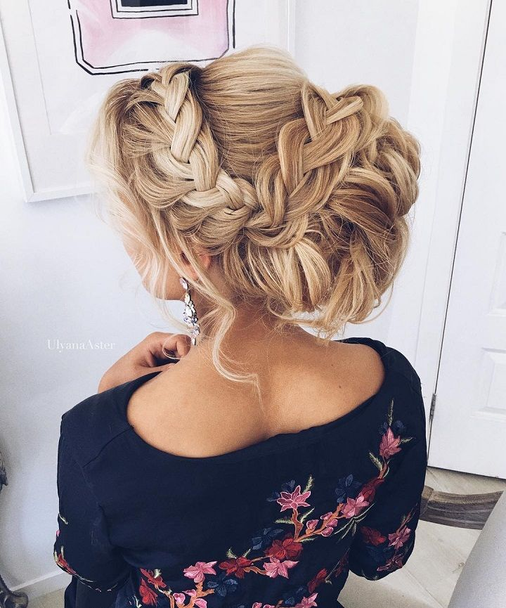 Updo with braids - Cute hairstyles for long hair #hairstyle #hair #promhair #weddinghair #hairstyles