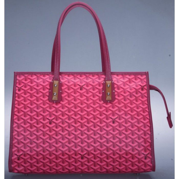 Goyard Sac Marquises Zippered Tote Bag Rose Red