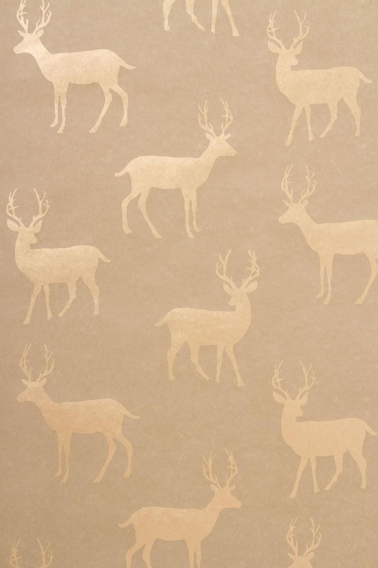 Metallic Stag Wallpaper - Anthropologie.com