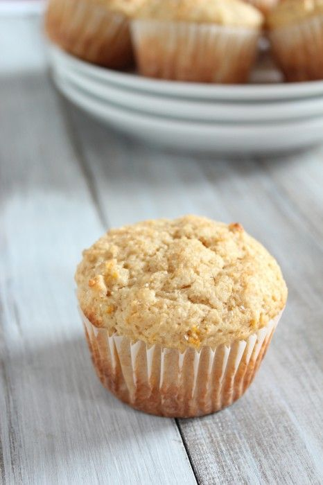 Meyer lemon ricotta muffins from Healthy Food for Living
