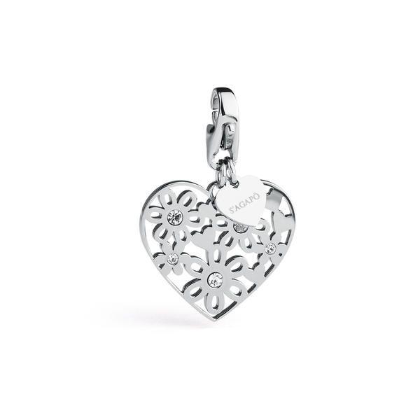 COLLEZIONE | HAPPY | SHA154 | S'Agapõ #charms #ciondoli #happy #heart #cuore #fiori #gioielli
