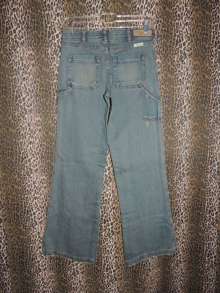 Abercrombie & Fitch Women's Distressed Denim Carpenter Jeans Size 9/10 NWT #AbercrombieFitch #Carpenter