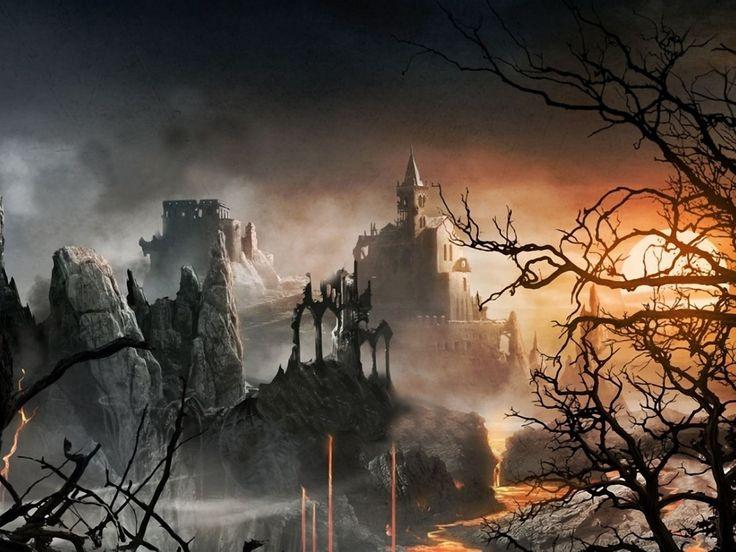 Dark Fairy Tales | Dark Fantasy Fairy Tale Castle 1024×768 Wallpaper