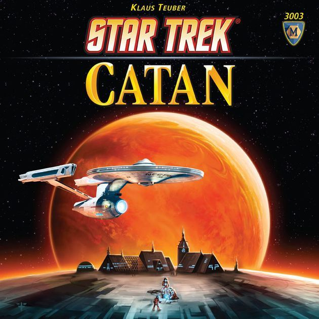 Star Trek: Catan takes two well-known media properties and merges them into, well, into something that is 95% The Settlers of Catan glossed with Trek tropes and spiced with a Trek-themed version of a mini-expansion previously only available in German.  In Star Trek: Catan, players start the game with two small Outposts at the intersection of three planets, with each planet supplying resources based on the result of a dice roll. Players collect and trade these resources – dilithium, ...