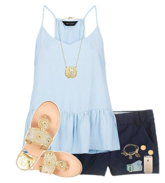 """""""RTD"""" by evedriggers ❤ liked on Polyvore featuring J.Crew, Vineyard Vines, New Look, Jack Rogers, Alex and Ani and BaubleBar"""