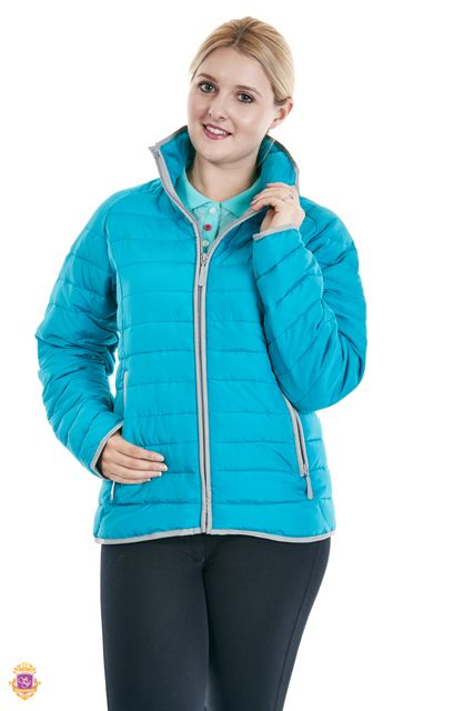 Sherwood Forest Hartwell jacket SF-LE-2932 - Fake down wadding, lightweight, SF embroidery. Colours: Dark raspberry, dark navy & lake blue