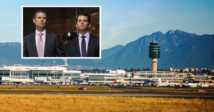 Trump Sons Detained At Vancouver Airport Due To Alleged Ties With Fascist Dictator