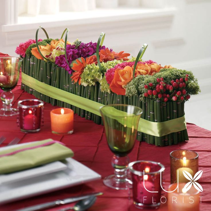 Multicolor Centerpieces Twinbrook Fl Design Fairfax Virginia Flowers And