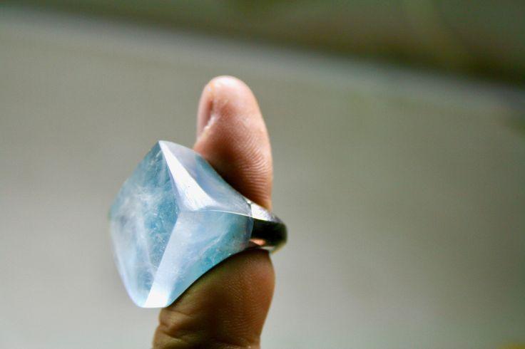ring palladio acquamarina
