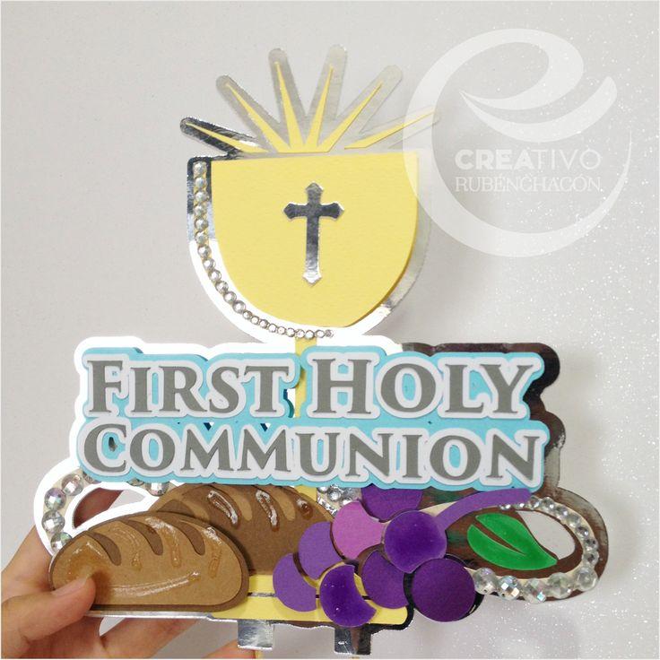 First Communion Cake Topper / Cake Topper Primera Comunión Personalizados / Cake #creativo #cake #creativorubenchacon #caketopper #comunion #toppers