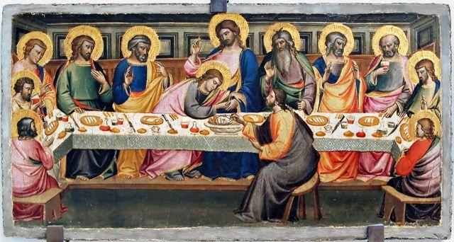 Niccolò di Pietro Gerini - Ultima cena - 1401 - Museo del Vetro, Empoli