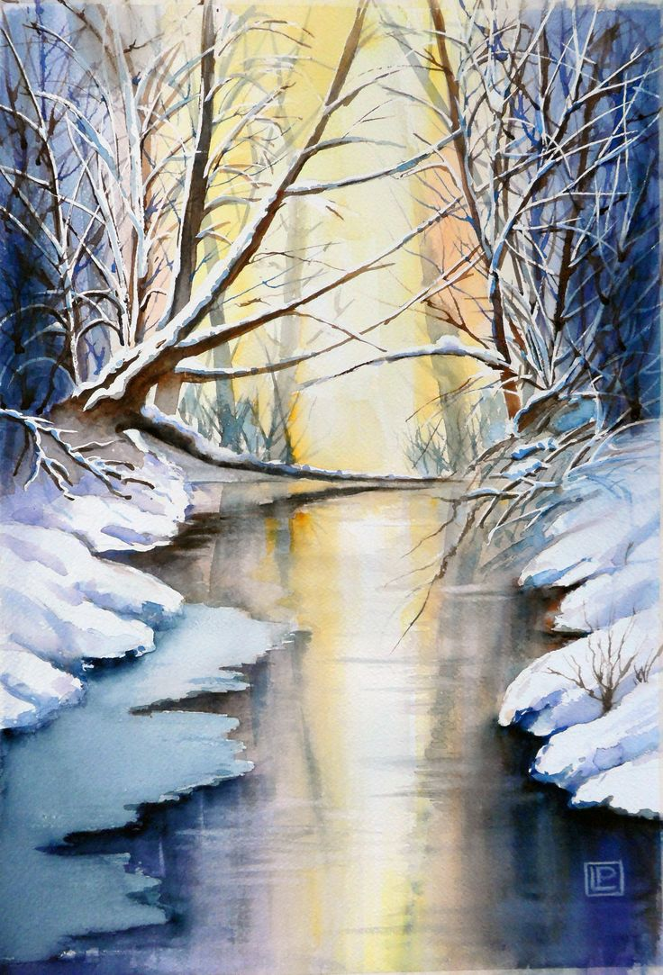 """Sole d'inverno"" acquerello di Lorenza Pasquali Paintings 35x51 www.lorenzapasquali.it  Copyright © Lorenza Pasquali"