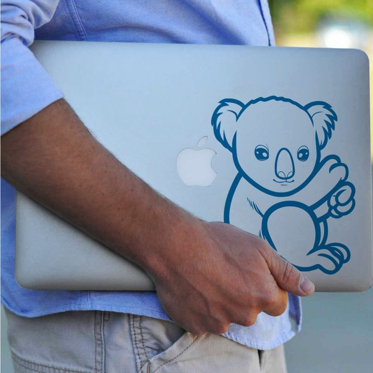 KOALA BEAR vinyl decal sticker- Macbook Decal, Custom Decal, koala bear, koala, Hawaiian, Australian, Vinyl Decal, Sticker, Die Cut Decal by decaliciouscom on Etsy