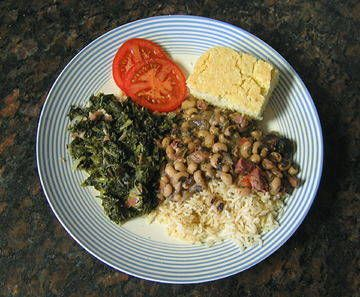 In the Southern United States, it's traditional to eat black-eyed peas or cowpeas in a dish called hoppin' john. There are even those who believe in eating one pea for every day in the new year. This all traces back to the legend that during the Civil War, the town of Vicksburg, Mississippi, ran out of food while under attack. The residents fortunately discovered black-eyed peas and the legume was thereafter considered lucky.    Read More…