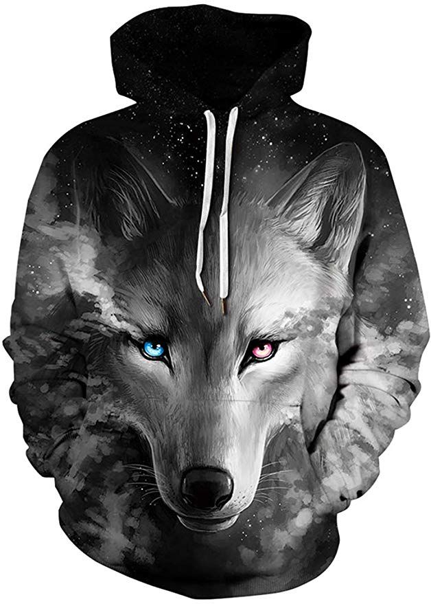 Ffox Mens Fashion Printed Oversize Baseball Hoodies Zipper up Jackets Tops
