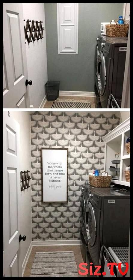 Super Wall Paper Accent Wall Bathroom Ideas Laundry Rooms Ideas Super Wall Paper…