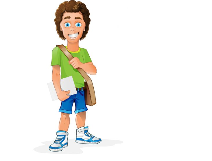 Image for Free Student Vector Character