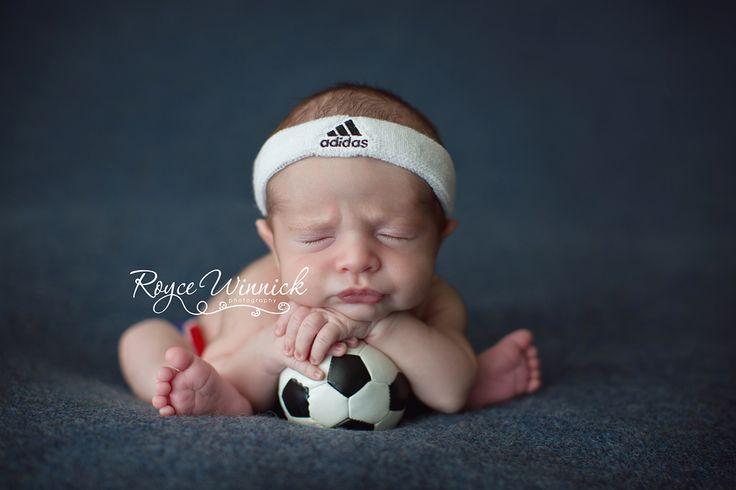 Newborn Photography soccer baby boy Adidas Royce Winnick Photography