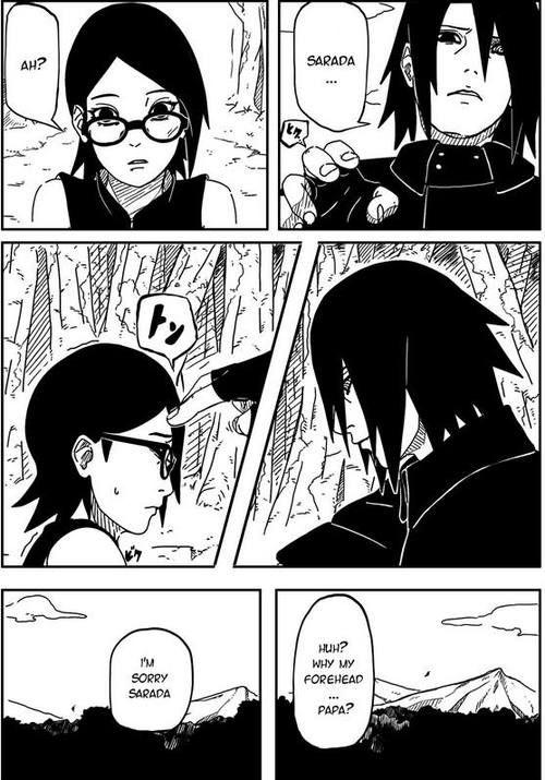 Naruto Gaiden Chapter 2 spoliers Sasuke and Sarada