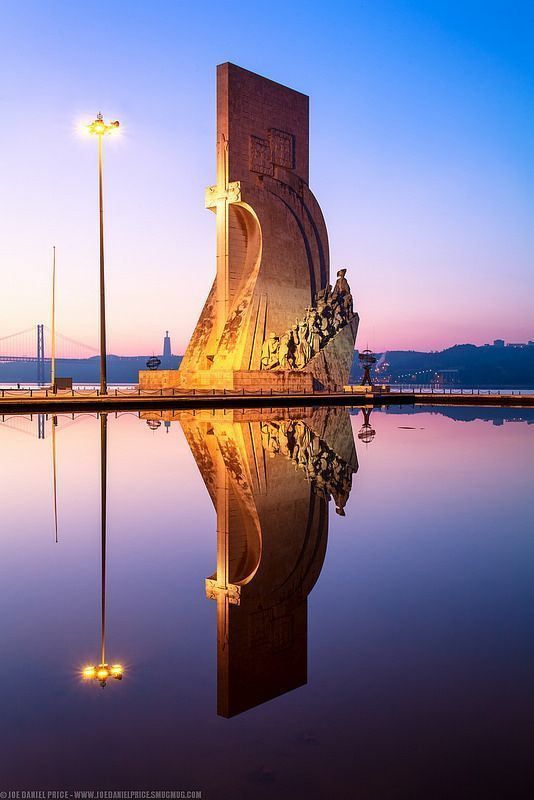 Reflection - Monument to the Discoveries, Belem in Lisbon City
