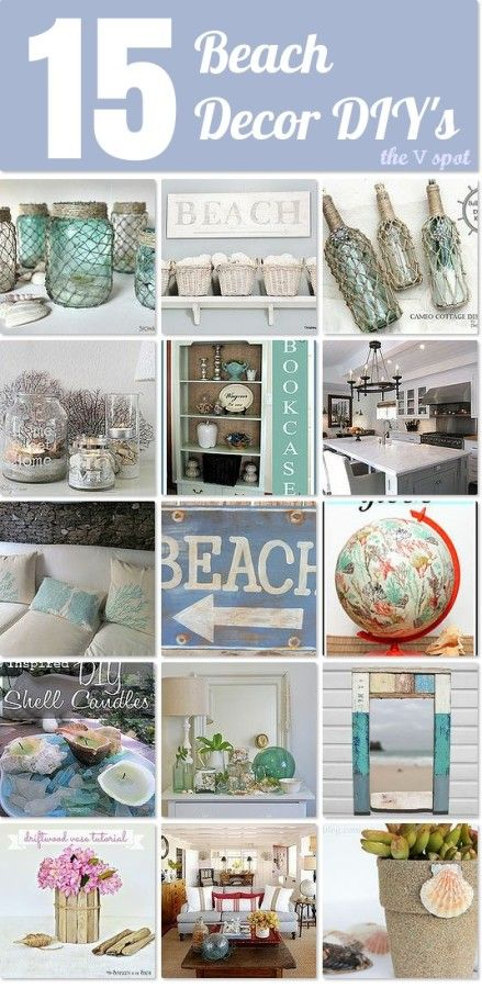 15 coastal inspired projects and beach decor DIY's