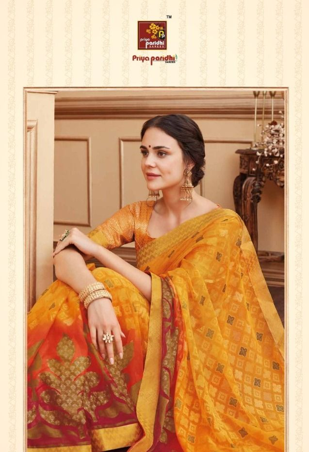 8317523a22b Priya Paridhi Ahiri Vol 8 Designer Printed Brasso Sarees Collection at  Wholesale Rate