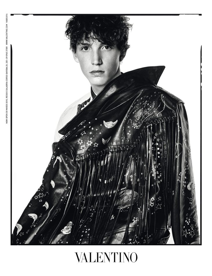 Valentino launches its fall/winter 2016 men's ad campaign featuring candid polaroid style black and white portraits of models including Thibaud Charon, Jackson Hale, Bradley Phillips, Harold Vente and Djavan Mandoula.  The campaign is captured by David Bailey, styled by Karl Templer.