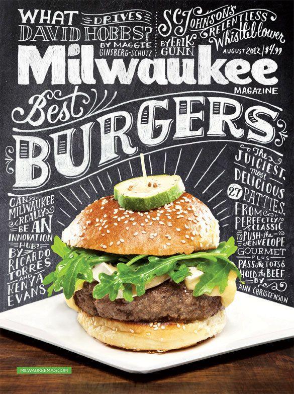 Milwaukee Magazine August 2012 Cover by Kathryn Lavey, via Behance