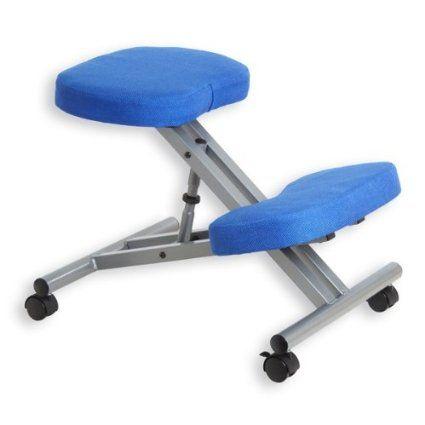 Tabouret ROBERT ergonomique bleu/alu: Amazon.fr: Fournitures de bureau