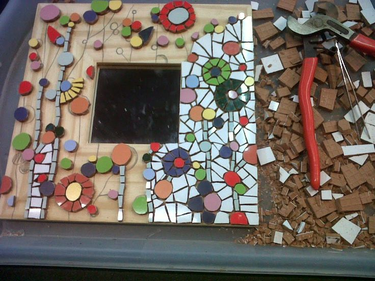 Working on a new mosaic mirror