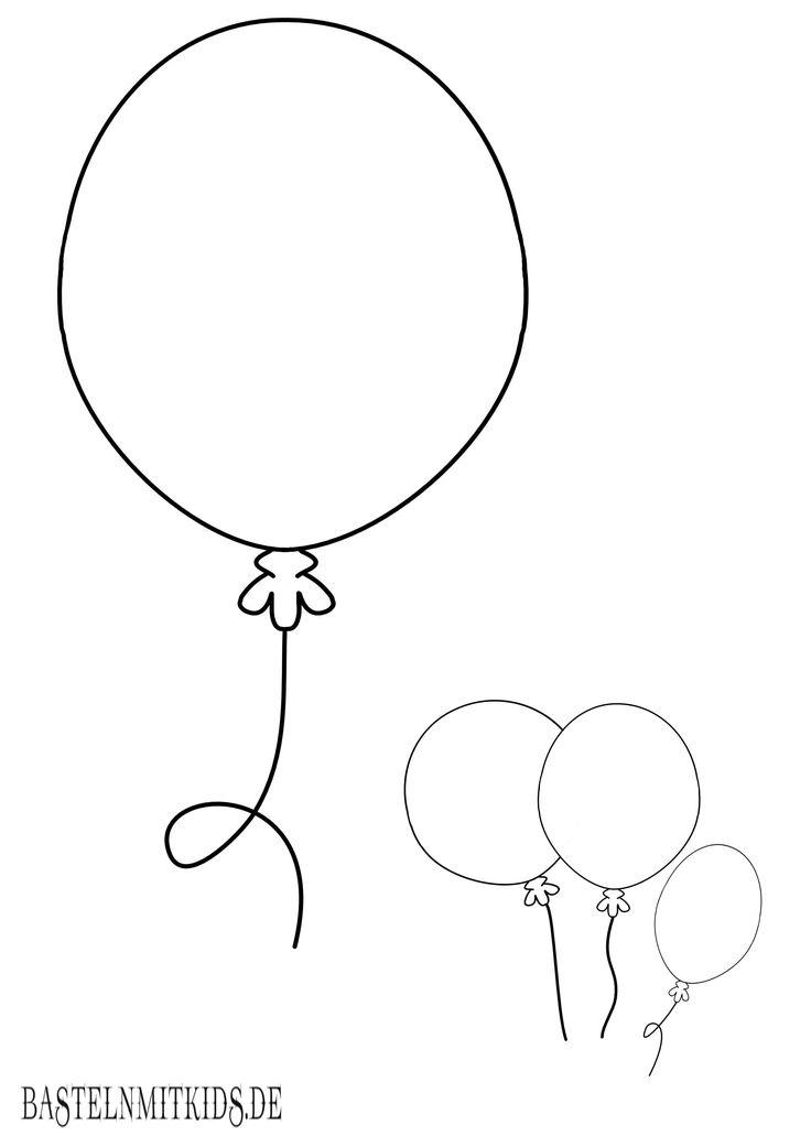 Luftballon Malvorlage für Fasching oder Geburtstage